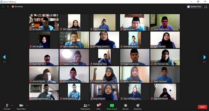 Pengambilan sumpah PNS UIN Bandung via zoom meeting